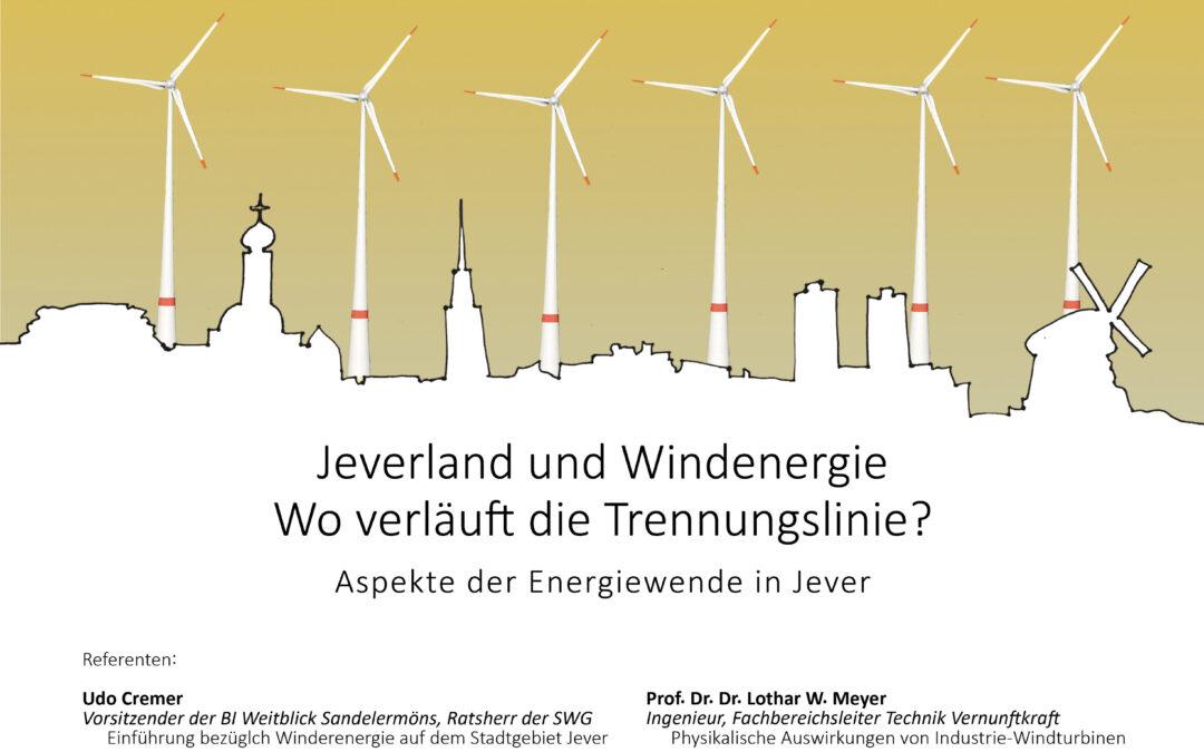 Vortragsabend: Jeverland und Windenergie